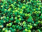 100, 500, 1000 or 5000 Mixed Green Pony Beads, DUMMY CLIPS,HAIR BRADING