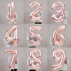 40 light rose gold number foil helium balloon for birthday party decoration ilo