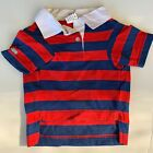 Casual Canine Dog Pet Rugby Polo Shirts 4th of July Patriotic Red White Blue NEW
