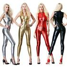 Sexy 4 Color Lycra Zentai Wet look Bodysuit Zipper Catsuit Jumpsuits Costume
