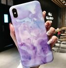 For iPhone X XS Max XR - Hard TPU Rubber Gummy Case Cover Marble Pattern Stone