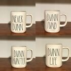 Rae Dunn Artisan Collection By Magenta DUNN DAY, FUN, FUND, HUNTER Coffee Mug