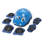 7Pcs/Set Boys & Girls Kids Skate Cycling Bike Safety Helmet Knee Elbow Pad A8N0L