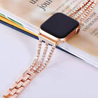 Bling Diamonds Stainless Steel Chain Band Wristband Strap For Apple Watch 5 4 3 image