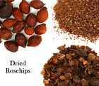 Dried Rosehips Whole, Fine Cut, Crushed - Top Quality - Rose Berries, Rose Fruit