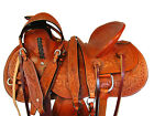 DEEP SEAT WADE SADDLE ROPING RANCH WESTERN HORSE TACK FLORAL TOOLED 15 16 17