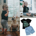 Toddler Kids Baby Boys Camo Tops T-shirt Pants Leggings 2PCS Outfits Set Clothes