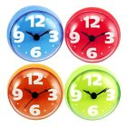Bathroom Wall Clock Suction Watch Kitchen Bath Shower Window Waterproof Cl #ya7