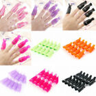10pcs plastic nail art soak off clip cap uv gel polish remover wrap av
