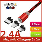 2.4A Quick Charger Magnetic Cable For iPhone XS XR X 7 6 Magnet Type-C Phone; EEK A+