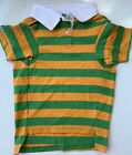 Casual Canine Dog Pet Rugby Polo Shirt Green Orange  NEW L, M, S, XS.