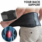 Magnetic Back Support Brace Belt Lumbar Lower Waist Double Adjust Pain Relief