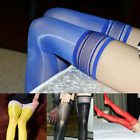 Women Sexy 8D Sheer High Stockings Oil Shiny High Glossy Bodyhose Long Socks