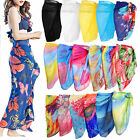 Women's Ladies Chiffon Swimwear Beach Cover Up Sarong Pareo Swimsuit Dress Wrap
