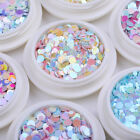 Holographic Nail Glitter Sequins Mixed Colors Nail Art Design Tips Decoration