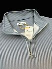 Peter Millar Crown Sport Perth Striped Performance Quarter Zip Pullover $115