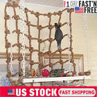Bird Pet Parrot Climbing Net Jungle Fever Swing Rope Animals Ladder Toys Game