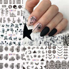 Nail Water Decals Animal Leaves Images Transfer Stickers Nail Art Decoration
