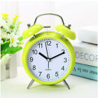 Classic Silent Double Bell Alarm Clock Concise Quartz Movement Bedside Night Lig