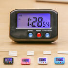 Small Alarm Clock LCD Digital Time & Date Stop Snooze Kitchen Timer