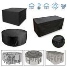 Heavy Duty Waterproof Rattan Table Cube Outdoor Garden Furniture Dust Rain Cover