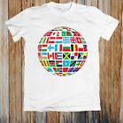 World Flags On To a Globe Unisex T Shirt