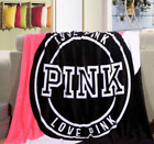 Victoria Secret Love Pink Soft Plush Throw Coral Fleece Air conditioner Blanket image