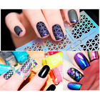 6 Patterns/Sheet Holographic Nail Vinyls Hollow Mixed Images Transfer Decals