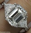Luxury Princess Cut White Sapphire CZ 925 Silver Ring Women Engagement Jewelry