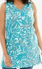 New WOMAN WITHIN Lot of 3 Perfect Printed V-Neck Sleeveless Tunic 2X 3X 4X 5X
