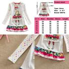 Vikita Winter Toddler Girl Clothes Cotton Long Sleeve Girls Dresses For Kids 2-8