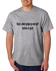Bayside Made USA T-shirt Heck Is Where People Don't Believe In Gosh Go