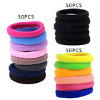 50Pcs Women Hair Ring Girl Hair Band Ties Elastic Rope Hairband Ponytail Holder