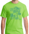 Gildan Short Sleeve T-shirt Sports Hockey Player Action Details Green