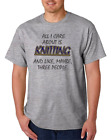 Gildan Short Sleeve T-shirt All I Care About Is Knitting Maybe 3 People  image