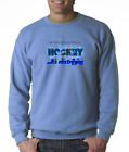 Gildan Long Sleeve T-shirt Hockey Feel Energy Discover Passion Electrifying