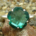 Faceted Green Tourmaline 925 Sterling Silver Ring Jewelry Size 6-9 DGR1081_F