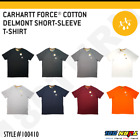 Carhartt Men's Force Cotton Delmont Short Sleeve T-Shirt Relaxed Fit FastDry image