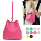 CASUAL EVERYDAY MINI CUTE RITA BUCKET TOTE SHOULDER CROSSBODY BAG FAUX LEATHER