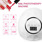 JU 72W Hand Sensor Powerful UV 24 LEDs Nail Lamp Dryer Nail Designs Art Curing T