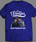 AARON BOONE F*CKING SAVAGES BASEBALL INSPIRED T-SHIRT FULL FRONT PRINT