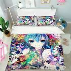 3D Colorful Graffiti Girl A26 Japan Anime Bed Pillowcases Quilt Duvet Cover Zoe