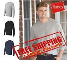 Hanes Mens Cotton Blank ComfortSoft Long Sleeve T Shirt 5286 up to 3XL image