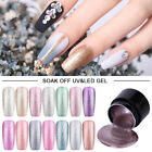 LEMOOC 5g Glitter UV Gel Polish Shining Purple Soak Off Nail Art Gel Varnish