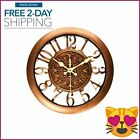 Antique Wall Clock Non-Ticking Quartz Decorative Battery Operated Baroque Style