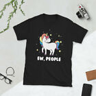Ew People Unicorn Introvert Funny Sarcastic T-Shirt