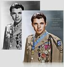 Colorized Photo Poster: Wwii U.s. Medal Of Honor Hero Audie Murphy -- 6 Sizes!