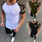 Men's Slim Fit O Neck Short Sleeve Muscle Tee Shirts Casual T-shirt Tops Blouse image