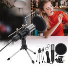 Condenser USB Microphone w/ Tripod Stand for Game Chat Studio Recording Youtuber