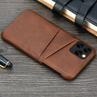For iPhone 12 11 Pro Max XS Leather Wallet Credit Card Slot Case Cover Samsung